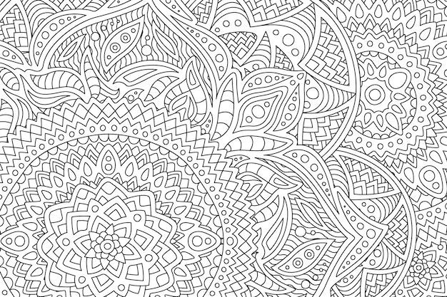 抽象的なパターンを持つ大人の塗り絵のページ