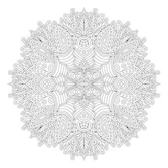 丸型模様の大人の塗り絵本ページ