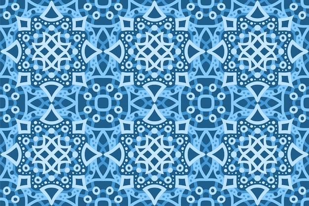 抽象的な青いシームレスパターンで美しい氷のような背景
