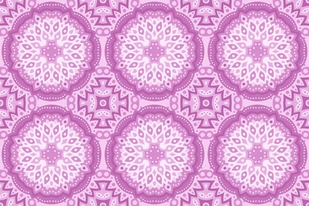 美しいピンクの抽象的な東部のシームレスパターン