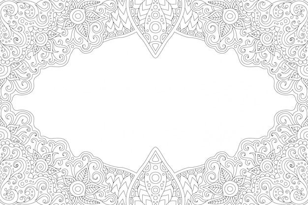 白黒ヴィンテージの塗り絵のページ