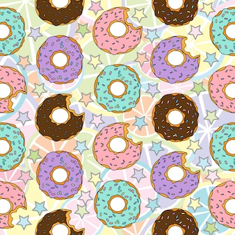 印刷ドーナツパターン