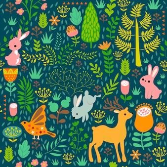 緑色の動物を印刷する