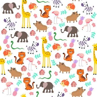 森の動物のパターン