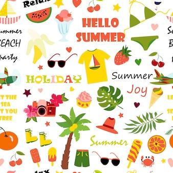 夏のシームレスパターン