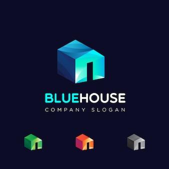 色オプション付きの家のロゴ