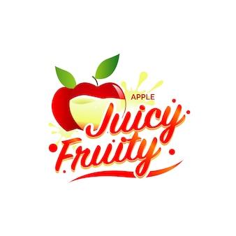 新鮮なリンゴジュースのロゴの図