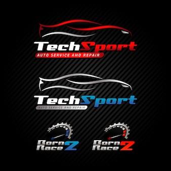 自動車自動車事業のロゴのテンプレート