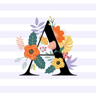 モノグラムの花のスタイル