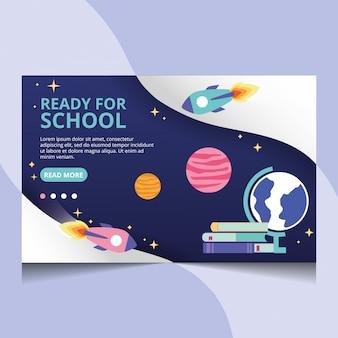 Готов к школе. вектор целевой страницы