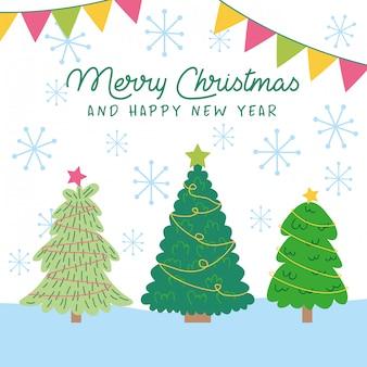 メリークリスマスと幸せな新年カード