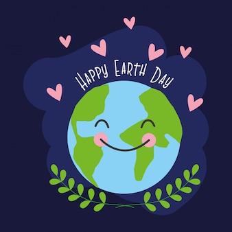 幸せな地球の日カード