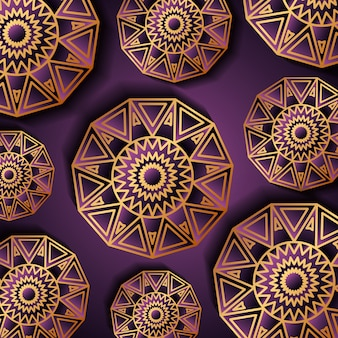 Роскошный золотой и фиолетовый фон