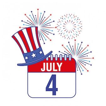 С четвертым июля. открытка ко дню независимости