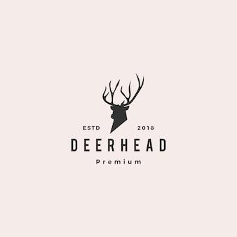 鹿の頭のロゴアイコンイラスト