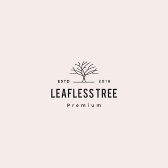 葉のない木のロゴベクトルアイコンイラスト