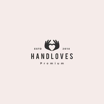 Рука любовь логотип векторная иллюстрация