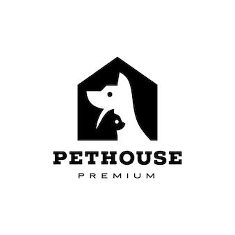 Собака кошка домашний питомец домашний логотип