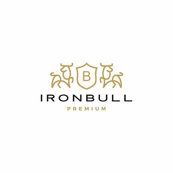 Герб быка логотип значок иллюстрации