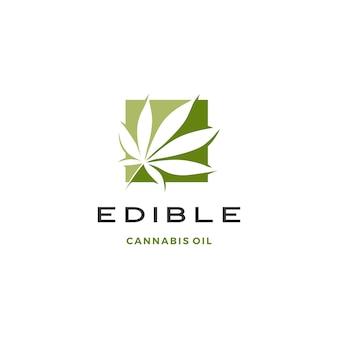 Логотип листьев конопли
