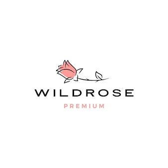 Цветок розы с логотипом