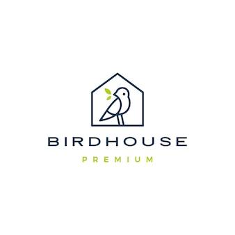 Птица дом логотип значок