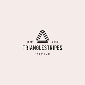 Буква треугольник логотип хипстер винтаж ретро