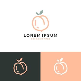 Логотип персика