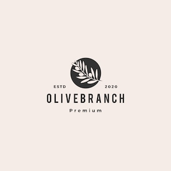 Логотип ветки оливкового дерева