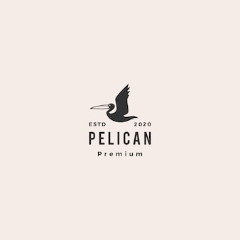 Пеликан залив птица логотип