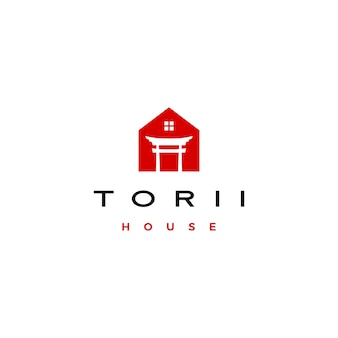 Логотип дома ворот тории