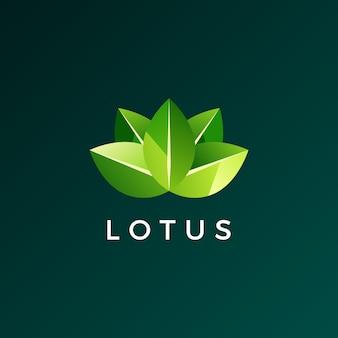 Лотос лист логотип значок иллюстрации