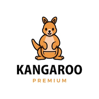 Кенгуру большой палец вверх талисман характер логотипа значок иллюстрации