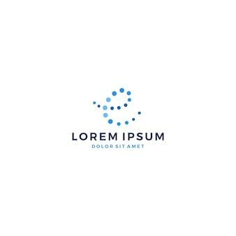 電子手紙デジタル接続分子ロゴ