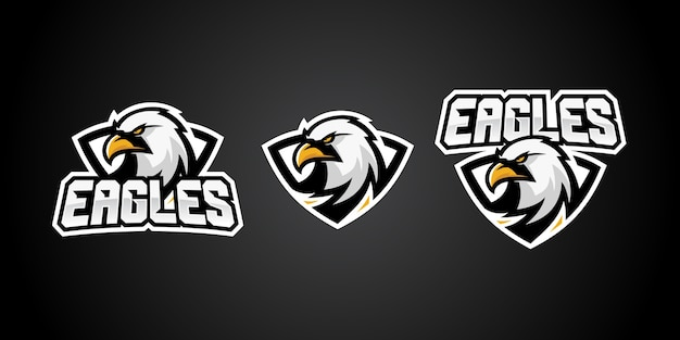 イーグルスポーツゲームのロゴベクトルバッジのエンブレム