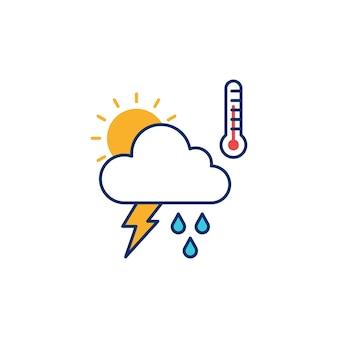 天気のイラストレーションのアイコンのベクトル図