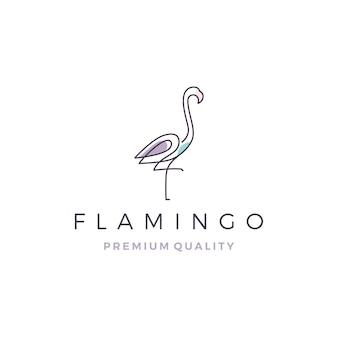 フラミンゴのロゴ