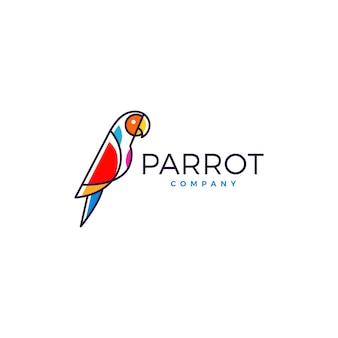 オウムのロゴの鳥ベクトルイラストアイコン