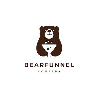 じょうごクマのロゴのアイコンベクトル図