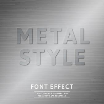 Эффект металлического шрифта
