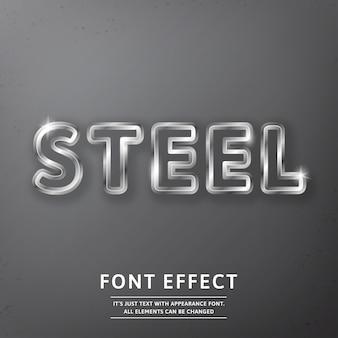 Текстовый эффект реалистичный сталь или метал роял