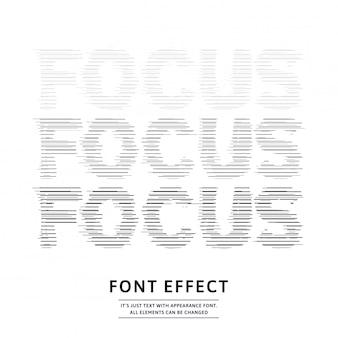 Текстовый эффект с эффектом фокусировки