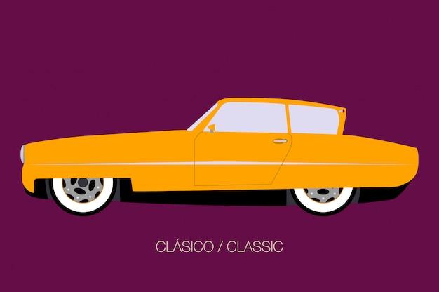 多用途車の側面図、側面図、フラットなデザインスタイル