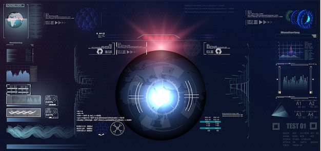 Футуристический виртуальный виртуальный дисплей
