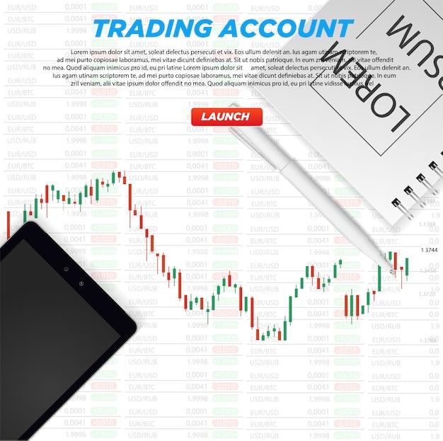 График фондового рынка