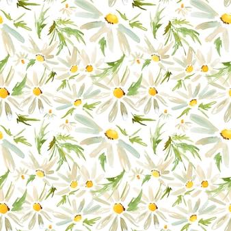 草原デイジーのシームレスパターン
