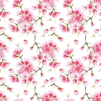 日本桜さくらシームレスパターン