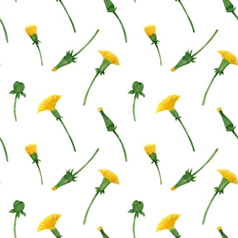 野生のタンポポのシームレス花柄