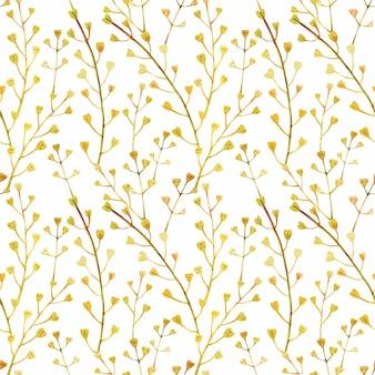 草原の野生植物のシームレスパターン
