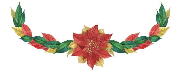 クリスマスポインセチアガーランド